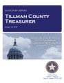 KIM LAMB, COUNTY TREASURER TILLMAN COUNTY, OKLAHOMA TREASURER STATUTORY REPORT JANUARY 10, 2012