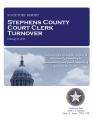 COUNTY OFFICER TURNOVER STATUTORY REPORT CONNIE ELAM STEPHENS COUNTY COURT CLERK FEBRUARY 8, 2012