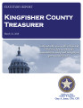 KAREN MUEGGENBORG, COUNTY TREASURER KINGFISHER COUNTY, OKLAHOMA TREASURER STATUTORY REPORT MARCH 31, 2016