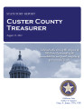 JANET ROULET, COUNTY TREASURER CUSTER COUNTY, OKLAHOMA TREASURER STATUTORY REPORT AUGUST 17, 2012