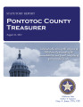 GLENDA GONDERMAN, COUNTY TREASURER PONTOTOC COUNTY, OKLAHOMA TREASURER STATUTORY REPORT AUGUST 31,...
