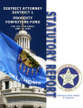 District Attorney, District 1, Statutory report, property forfeiture fund.