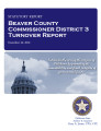 County officer turnover statutory report, Beaver County Commissioner District 3.