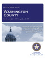 WASHINGTON COUNTY OPERATIONAL AUDIT FOR THE PERIOD JULY 1, 2007 THROUGH JUNE 30, 2008