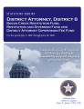 District Attorney, District 8, Statutory report, bogus check restitution fund, restitution and...