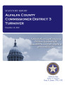 County officer turnover statutory report, Alfalfa County Commissioner District 3.