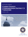County officer turnover statutory report, Caddo County Commissioner District 3.