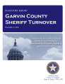 County officer turnover statutory report, Garvin County sheriff.