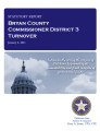 County officer turnover statutory report, Bryan County Commissioner District 3.
