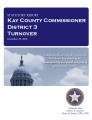 County officer turnover statutory report, Kay County Commissioner District 3.