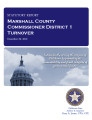 County officer turnover statutory report, Marshall County Commissioner District 1.