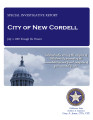 CITY OF NEW CORDELL SPECIAL INVESTIGATIVE REPORT JULY 1, 2007 THROUGH PRESENT
