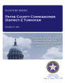 COUNTY OFFICER TURNOVER STATUTORY REPORT GLORIA HESSER PAYNE COUNTY COMMISSIONER DISTRICT #2...