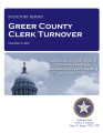 COUNTY OFFICER TURNOVER STATUTORY REPORT SONJA WALLACE GREER COUNTY CLERK DECEMBER 6, 2012