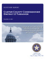 COUNTY OFFICER TURNOVER STATUTORY REPORT STEVE TOMPKINS CUSTER COUNTY COMMISSIONER DISTRICT 2...