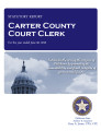 Court clerk, Carter County, Oklahoma statutory report.