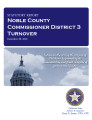 County officer turnover statutory report, Noble County Commissioner District 3.