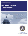 SANDRA GOSS, COUNTY TREASURER MAJOR COUNTY, OKLAHOMA TREASURER STATUTORY REPORT MARCH 1, 2013