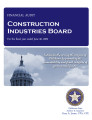 Construction Industries Board Financial Statement and Independent Auditor's Reports