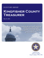 County treasurer, Kingfisher County, Oklahoma, treasurer statutory report.