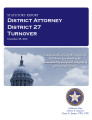 Officer turnover statutory report, District Attorney, District 27, Adair, Cherokee, Sequoyah and ...