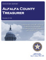 VALERIE VETTER, COUNTY TREASURER ALFALFA COUNTY, OKLAHOMA TREASURER STATUTORY REPORT NOVEMBER 8,...