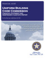 Uniform Building Code Commission Financial Statement and Independent Auditor's Report For the...
