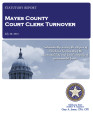 COUNTY OFFICER TURNOVER STATUTORY REPORT LORI PARSONS MAYES COUNTY COURT CLERK JULY 30, 2013