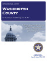 WASHINGTON COUNTY OPERATIONAL AUDIT FOR THE PERIOD JULY 1, 2010 THROUGH JUNE 30, 2011