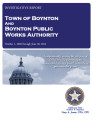 TOWN OF BOYNTON BOYNTON PUBLIC WORKS AUTHORITY INVESTIGATIVE REPORT OCTOBER 1, 2009 THROUGH JUNE...