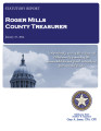 BAB COKER, COUNTY TREASURER ROGER MILLS COUNTY, OKLAHOMA TREASURER STATUTORY REPORT JANUARY 27,...