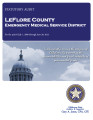 LeFLORE COUNTY EMERGENCY MEDICAL SERVICE DISTRICT STATUTORY REPORT FOR THE PERIOD JULY 1, 2009...