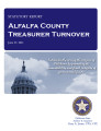 County officer turnover statutory report, Alfalfa County Treasurer.