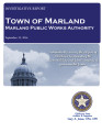 Town of Marland Marland Public Works Authority Investigative Audit September 12, 2014