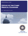 Audit Report of the Office of the Chief Medical Examiner For the Period July 1, 2008 through June...