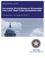 Audit Report of the Oklahoma State Board of Examiners for Long Term Care Administrators For the...