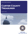 MARSHA COLLINS, COUNTY TREASURER CARTER COUNTY, OKLAHOMA TREASURER STATUTORY REPORT August 15, 2015