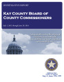 Kay County, Oklahoma Board of County Commissioners Investigative Audit Report July 1, 2012-June...