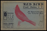 Red Bird, Creek Nation, I. T.