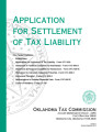 Application for Settlement of Tax Liability