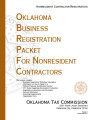 Oklahoma Business Registration Packet for Nonresident Contractors