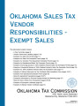 Oklahoma Sales Tx Vendor Responsibilties - Exempt Sales
