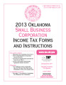 2013 Small Business Corporation Income Tax Forms and Instructions