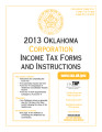 2013 Corporation Income Tax Forms and Instructions
