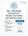 2011 Partnership Income Tax Forms and Instructions