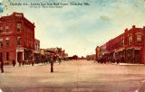 Chickasha Ave., Looking East from Bank Corner, Chickasha, Okla.