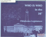 Who Is Who in the 38th Oklahoma Legislature