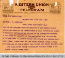 Telegram Nick Chiles, Editor Topeka Plainsdealers to Governor James B. A. Robertson, 1921 June 2