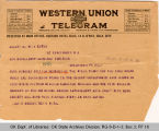 Telegram Jas D. Brooks, Secretary Universal Negro Improvement Association to Governor James B. A....
