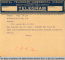 Telegram Stoerey to S. P. Freeling, Attorney General, 1921 July 6